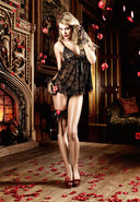 Black Lace Babydoll (disc)