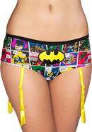 Batman Comic Strip Panty W/garter-1x/2x