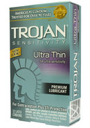 Trojan Condom Sensitivity Ultra Thin Lubricated 12 Pack