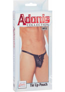 Adonis Tie Up Pouch Male Thong Black Medium/large