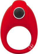 Bulge Vibrating Silicone Cock Ring Waterproof Red