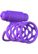 Fantasy C-ringz Silicone Vibrating Couples Cock Cage...