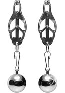 Master Series Deviant Monarch Weighted Nipple Clamps Metal...