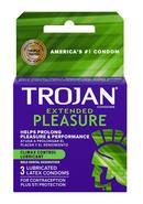 Trojan Extended Pleasure Premium Latex Condoms 3 Pack