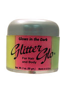 Glitter Glo For Hair And Body Glow In The Dark 4 Colors 2...