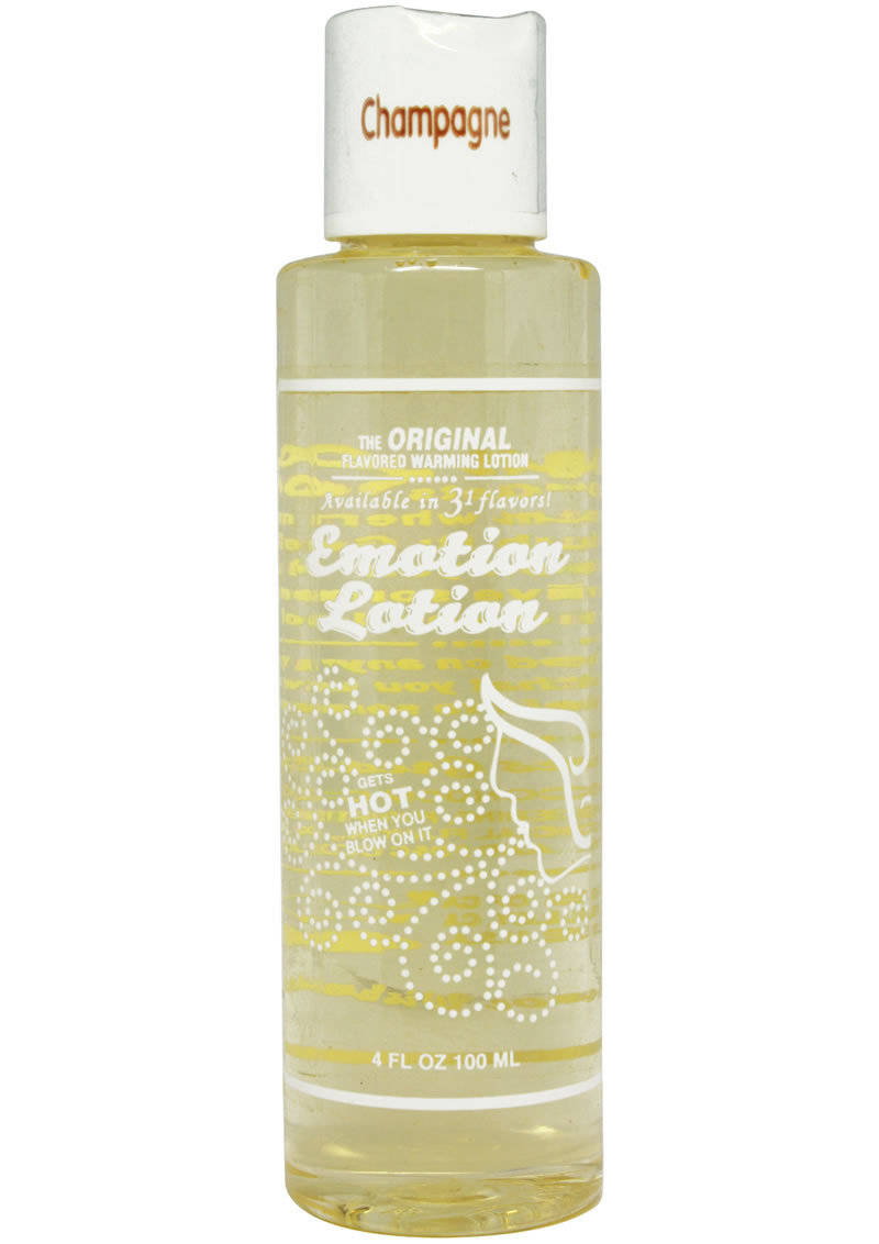 Emotion Lotion Flavored Water Based Warming Lotion Champagne 4 Ounce