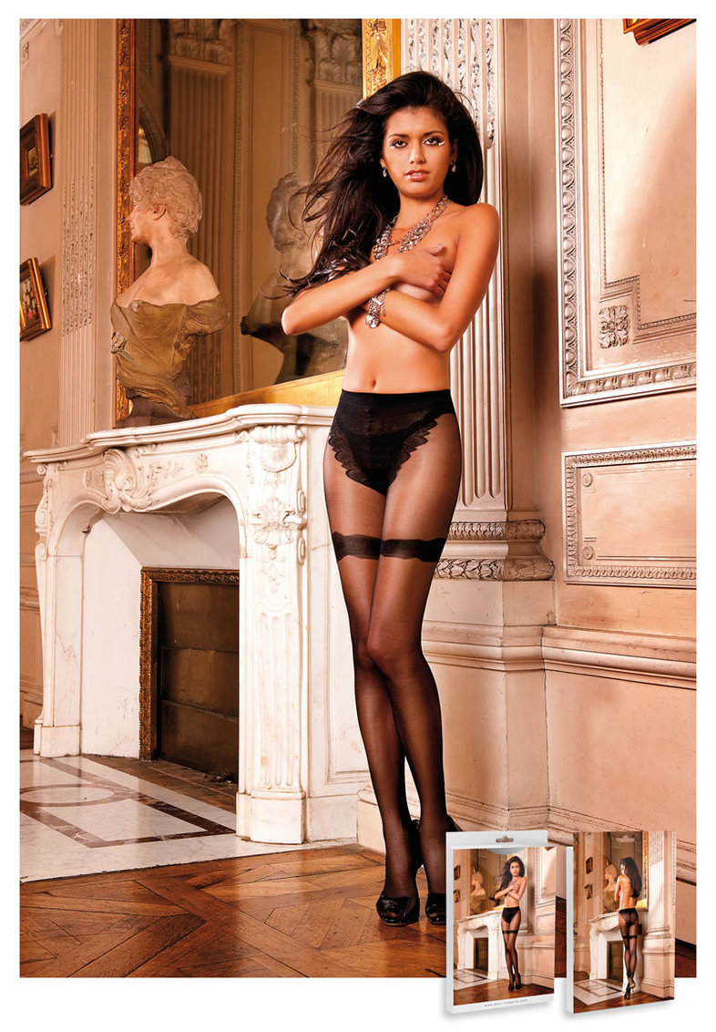Frnch Lce Sheer Jcquard Pantyhose (disc)