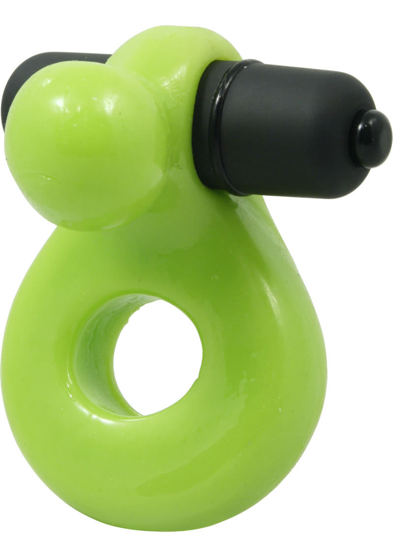 Glo Glo A Go Go Nuclear Lime Glo Ring Cock Ring Waterproof Green