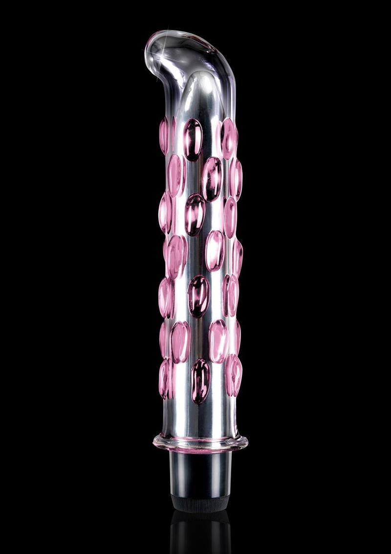 Icicles No 19 Glass Vibrator 7.5 Inch Clear Pink
